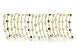 The Ultimate Arm-Party ... It's in the DNA of CASSIS® Jewels ... Colorful stacks of textured 18 karat yellow gold link bracelets! Pick a color ... or two .. or three ... !!!