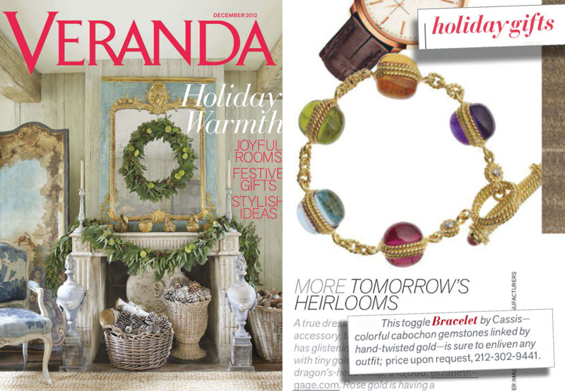 Holiday gifts - Tomorrow's Heirlooms - December 2012 Veranda Magazine